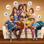 The most popular social networks are named